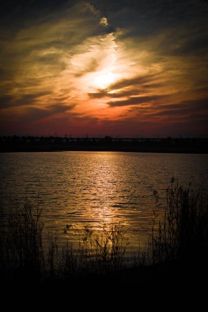 Paisagem do por do sol Foto gratuita
