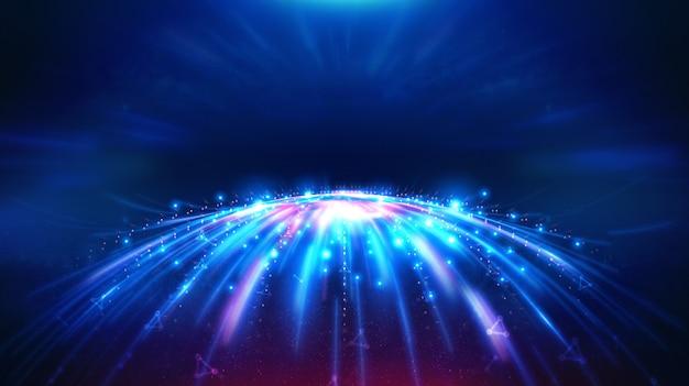 Paisagem e futurista digital blockchain tecnologia fintech. Foto Premium