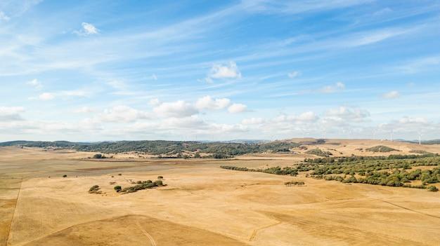 Paisagem incrível com terra seca Foto gratuita