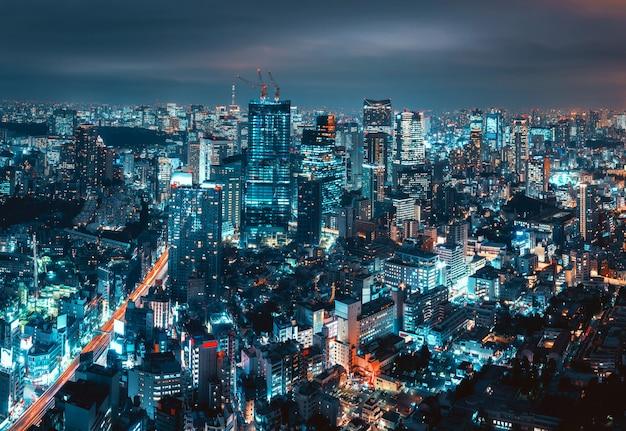 Paisagem urbana da cidade de tóquio Foto Premium