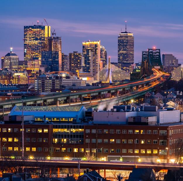 Paisagem urbana de boston Foto Premium