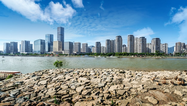 Paisagem urbana de fuzhou, china Foto Premium