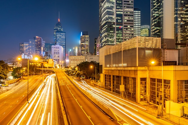Paisagem urbana de hong kong Foto Premium