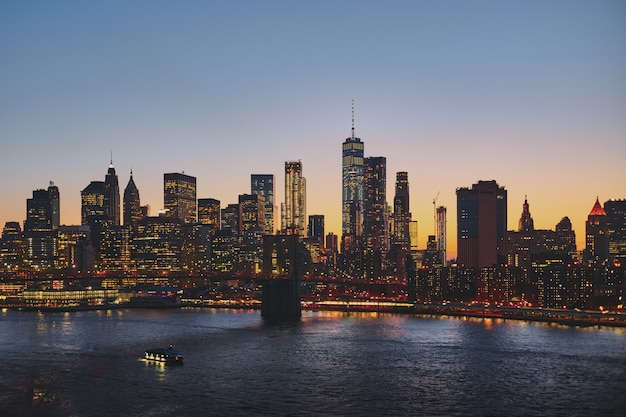 Paisagem urbana de nova york Foto gratuita