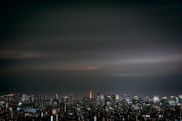 Paisagem urbana de tóquio, japão Foto Premium