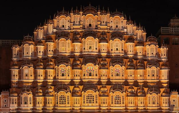 Palácio de hawa mahal, jaipur Foto Premium