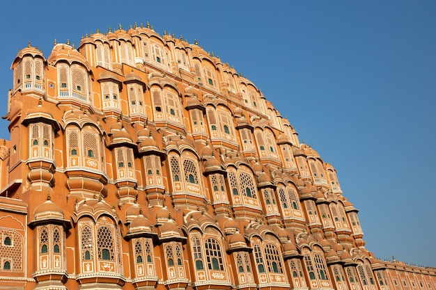 Palácio de hawa mahal na índia de jaipur rajasthan. Foto Premium