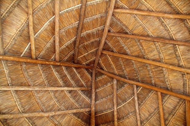 Palapa tropical méxico madeira telhado telhado detalhe Foto Premium