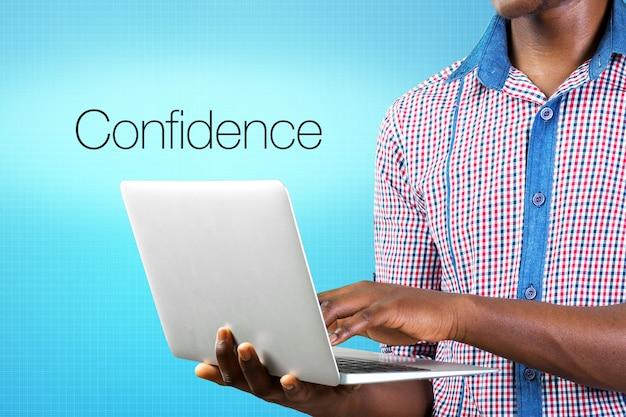 Palavra de conceito de confiança Foto Premium