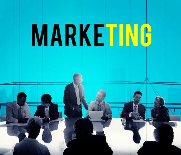 Palavra de plano de marketing de empreendedorismo de negócios Foto gratuita