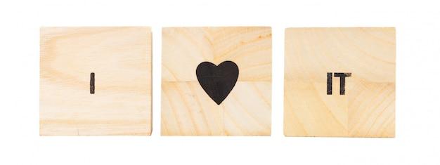 Palavra escrita em cubo de madeira Foto Premium