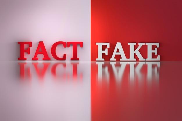 Palavras - fato e falsificação Foto Premium