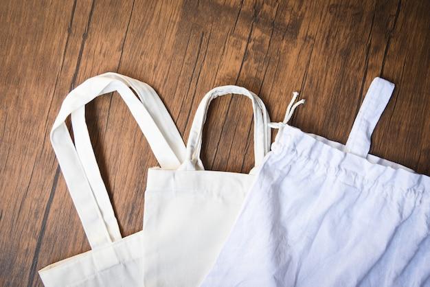 Pano de lona de tecido de lona tote eco Foto Premium