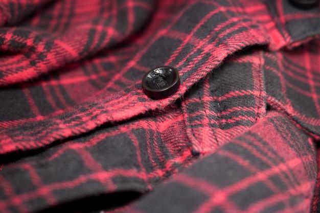 Pano de tecido de flanela xadrez vermelho Foto Premium