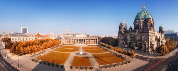 Panorama aéreo do centro de berlim Foto Premium