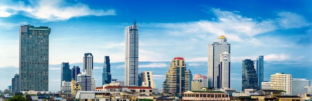 Panorama bangkok cityscape skyline Foto Premium