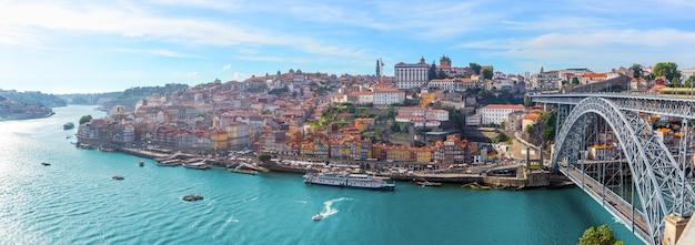 Panorama da cidade do porto portugal Foto Premium