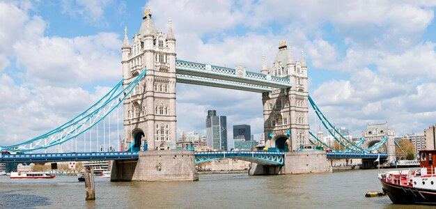 Panorama da ponte da torre Foto Premium