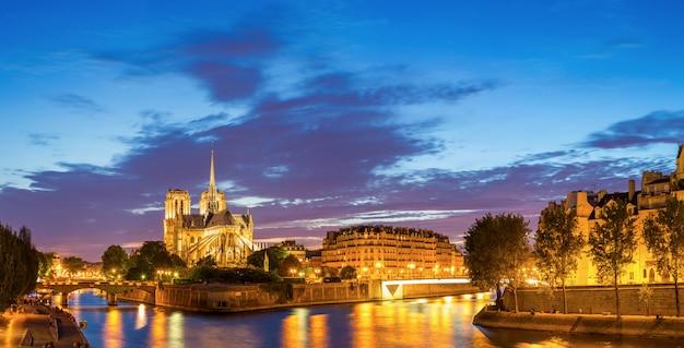Panorama de paris notre dame Foto Premium
