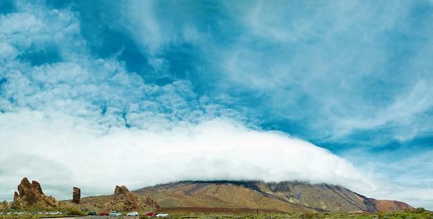 Panorama do parque nacional teide, tenerife, espanha Foto gratuita