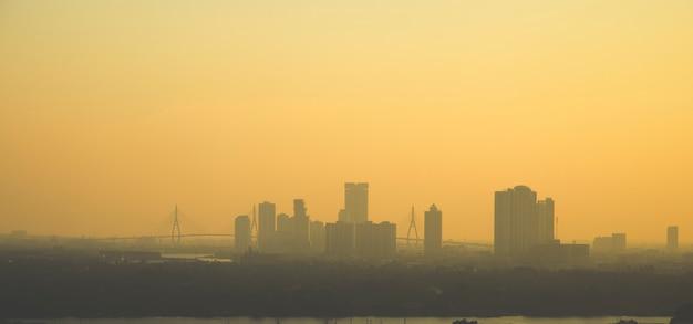 Panorama do sol de banguecoque Foto Premium