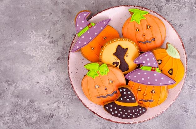Pão caseiro com fotos para o halloween Foto Premium