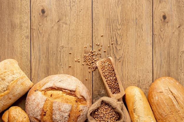 Pão caseiro gostoso com sementes Foto gratuita