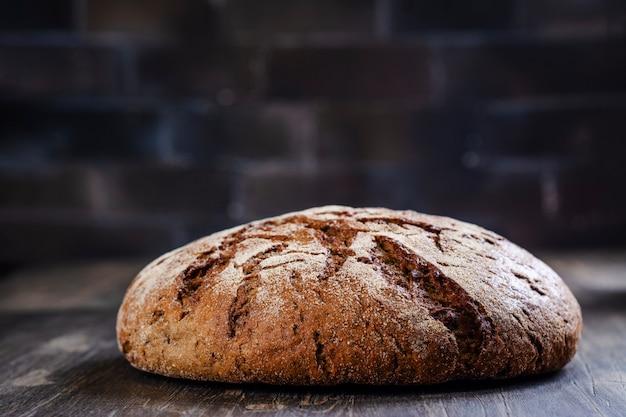Pão de fermento redondo Foto Premium