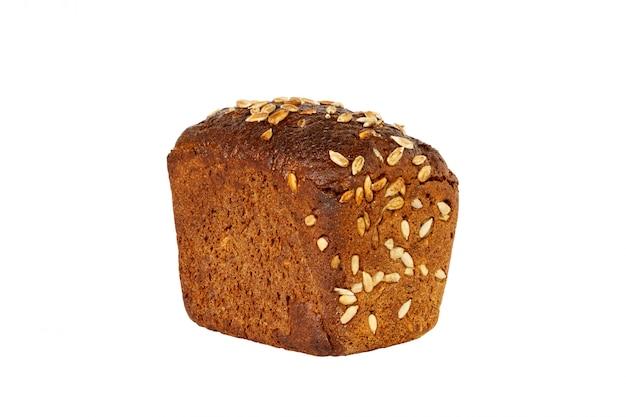 Pão de forma com sementes isolado em um branco Foto Premium