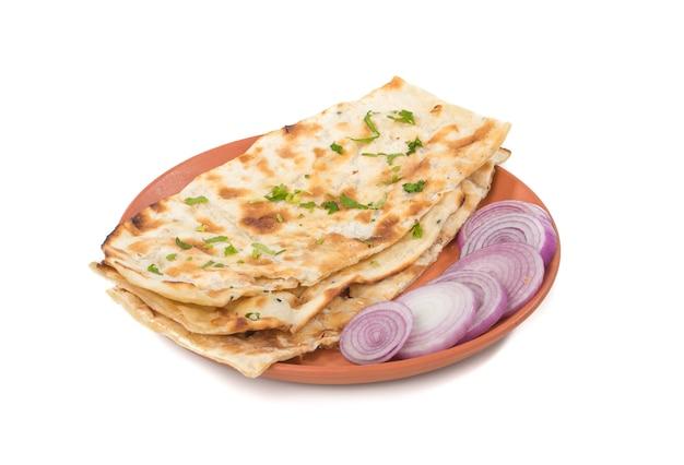 Pão naan indiano Foto Premium