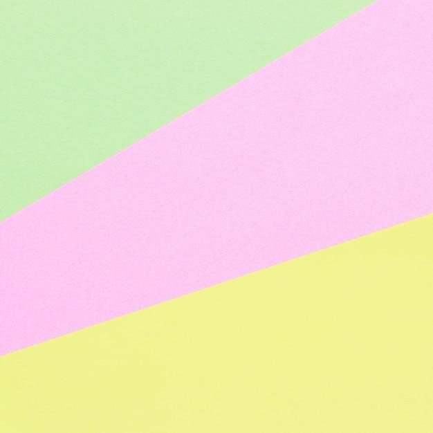 Papéis de cor geometria fundo composição plana com tons pastel Foto Premium