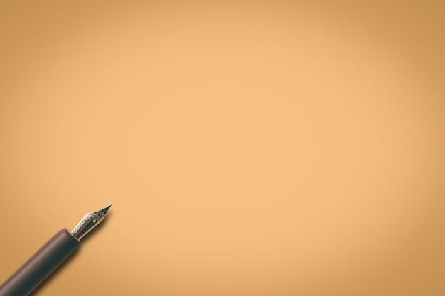 Papel com caneta Foto Premium