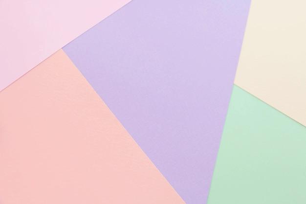 Papel de cor abstrata e fundo de papel pastel colorido criativo Foto Premium