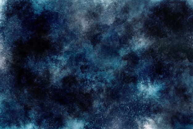 Papel de parede do espaço da nuvem de fundo aquarela escuro Foto Premium