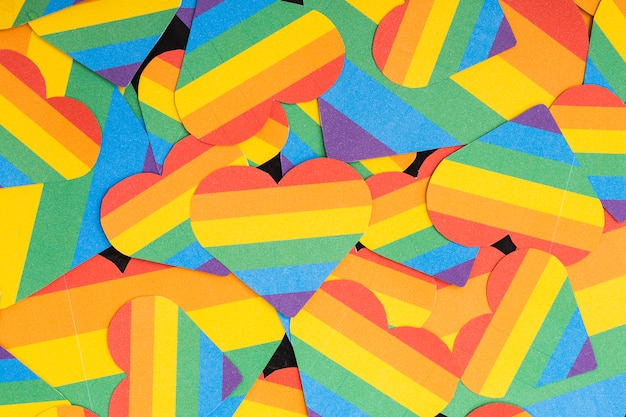 Papel de parede multicolorido lgbt corações Foto gratuita