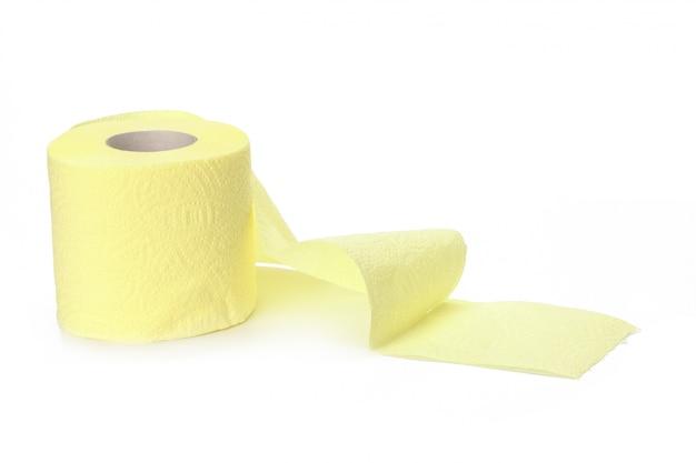 Papel higiênico isolado em um branco Foto Premium