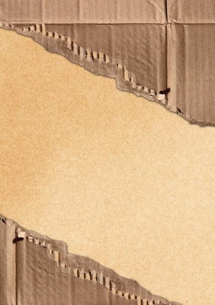 Papelão ondulado rasgado Foto Premium