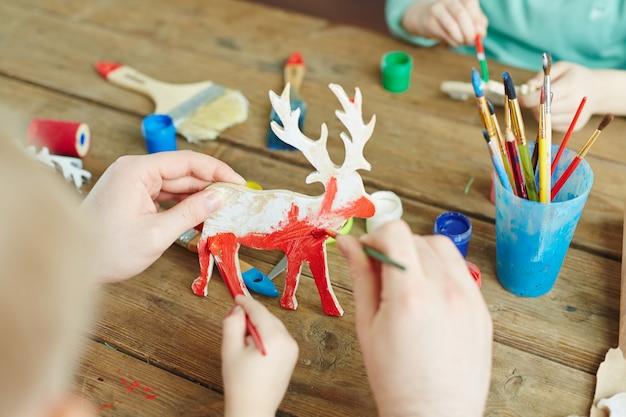 Papercraft de natal Foto gratuita