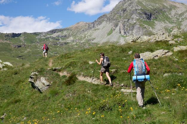 Par, de, hikers Foto Premium