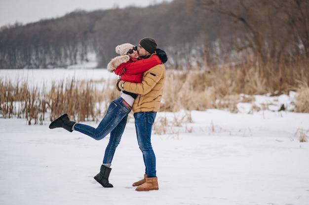 Par jovem, ligado, dia valentines Foto gratuita