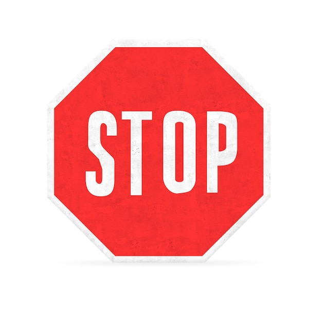 Pare o sinal do hexágono Foto gratuita