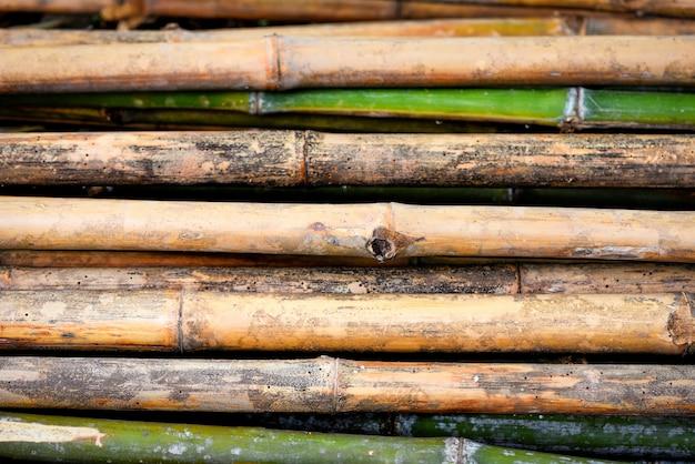 Parede de bambu velha fundo natureza parede Foto Premium