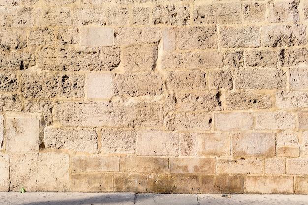 Parede de pedra, fundo da parede lamentando. Foto Premium