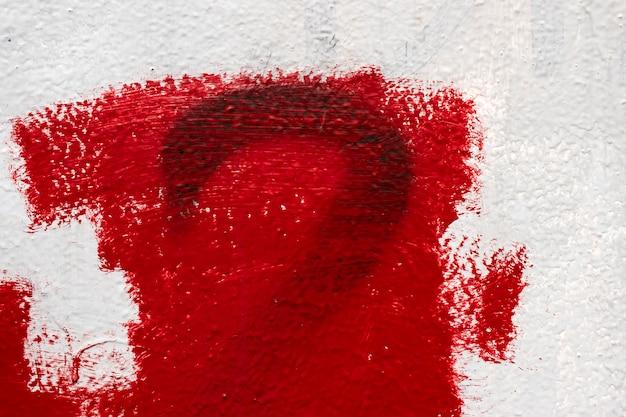 Parede de textura, gotejamento, massa de vidraceiro, parede vermelho-branca Foto Premium