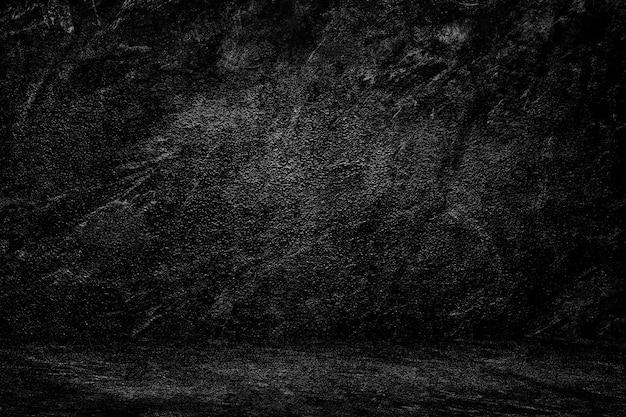 Parede de textura preta fundo gradiente escuro studio para composição de pano de fundo Foto Premium