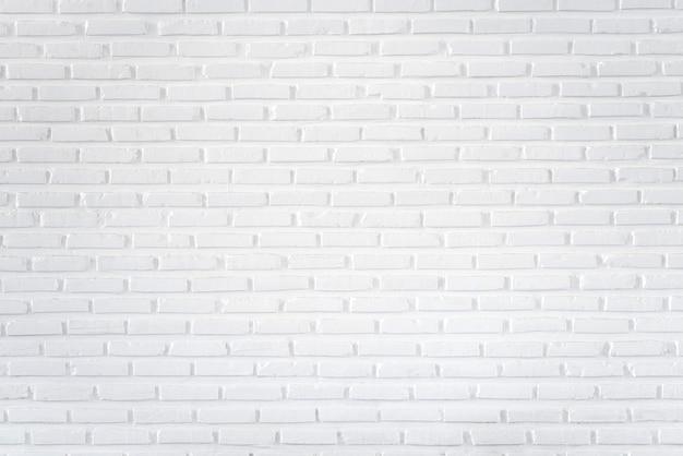 Parede de tijolo branco para plano de fundo e texturizado Foto Premium