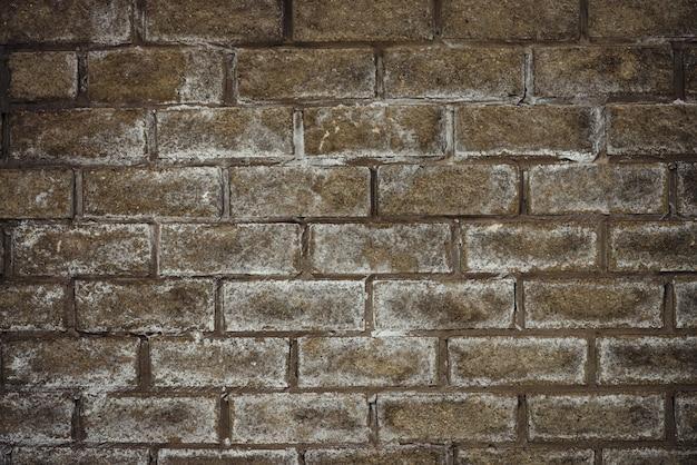 Parede de tijolo coberto de neve Foto Premium