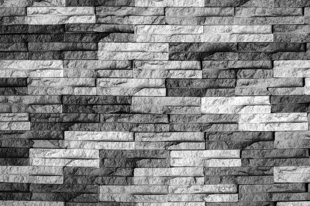 Parede de tijolo preto e branco moderno Foto Premium
