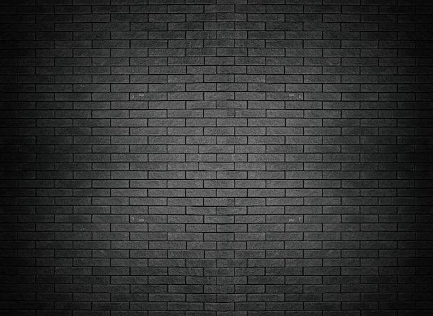 Parede de tijolo preto textura tijolo superfície fundo papel de parede Foto Premium