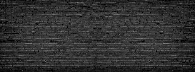 Parede de tijolo preto Foto Premium